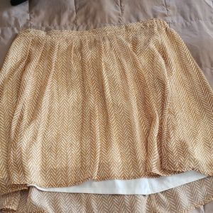 Old Navy Tan Skirt Flowy Material